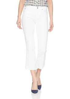 7 For All Mankind Women's Cropped Boot Pant With Frayed Hem