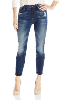 7 For All Mankind Women's Cropped High-Waist Vintage Straight Jean In