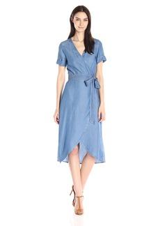 7 For All Mankind Women's Denim Wrap Dress