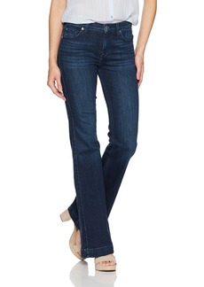 7 For All Mankind Women's Dojo Trouser Leg Jean with Tonal 7""