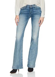 "7 For All Mankind Women's Dojo Trouser Leg Jean With Tonal 7"""