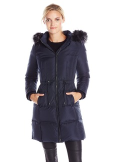 7 For All Mankind Women's Down Coat with Fur Hood