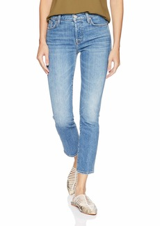 7 For All Mankind Women's Edie Cropped Straight Leg Jean