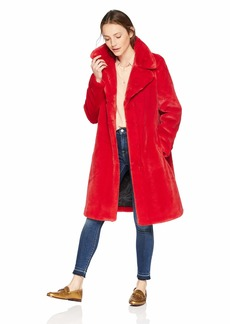 7 For All Mankind Women's Faux Fur Coat fire L