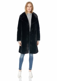 7 For All Mankind Women's Faux Fur Coat  L