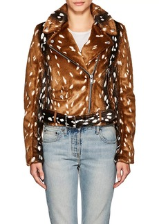7 For All Mankind Women's Faux-Fur Jacket