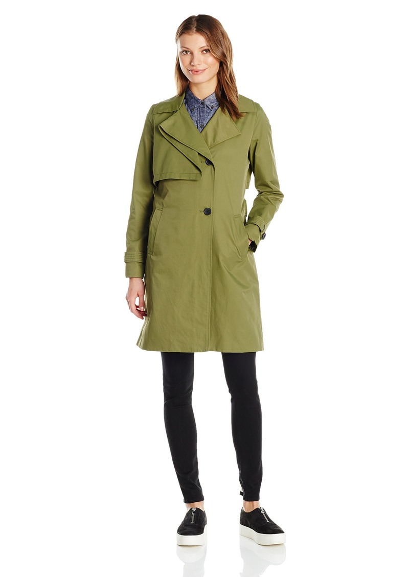 7 For All Mankind Women's Folded Gunflap Trench Coat  XL