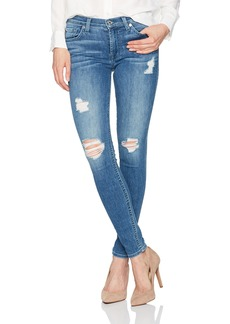 7 For All Mankind Women's Gwenevere Skinny Jean with Destroy in Ashler Blue