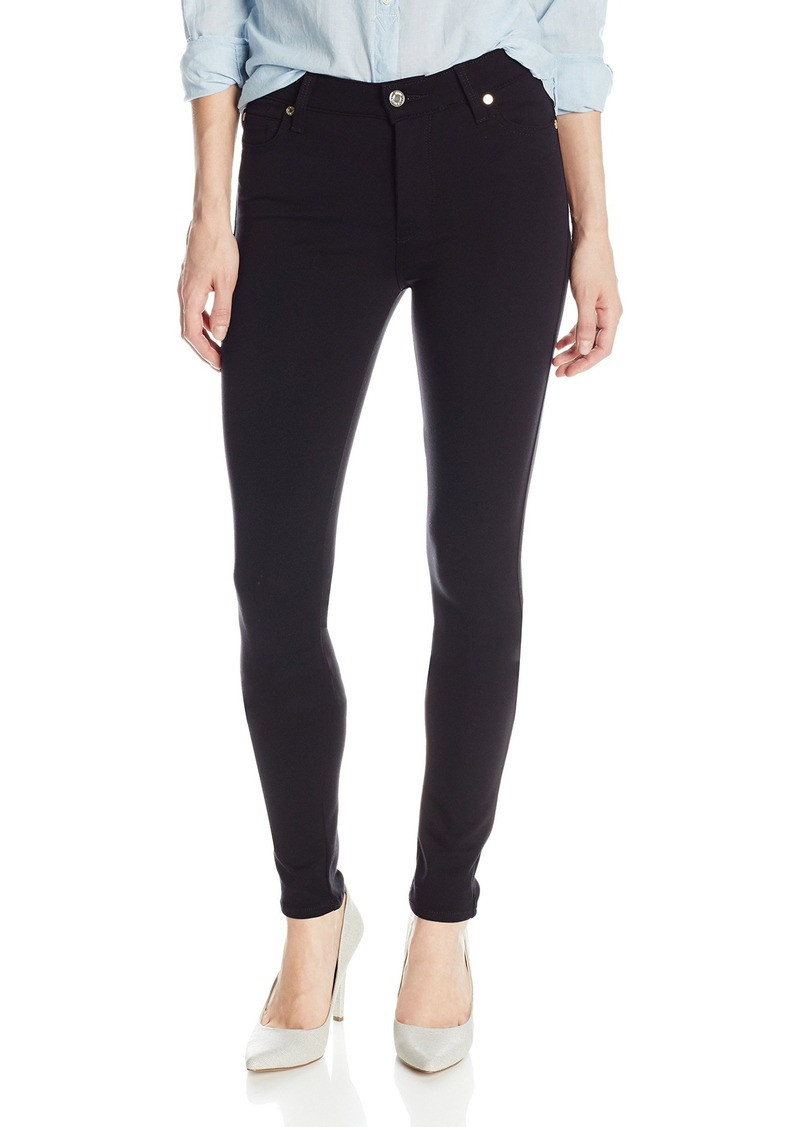 7 For All Mankind Women's High-Waist Skinny Jean in Solid Double Knit in