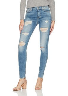 7 For All Mankind Women's High Waist Skinny Jean with Destroy in Light Lafayette 2