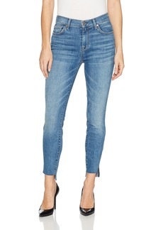 7 For All Mankind Women's Highwaist Ankle Skinny Jean with Step Hem