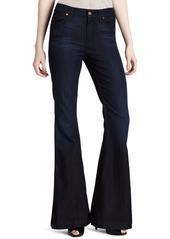 7 For All Mankind Women's Highwaist Flare Jean in Deep Creek Blue
