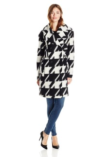 7 For All Mankind Women's Houndstooth Wool Coat