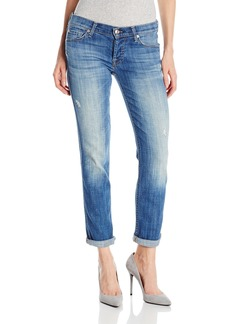 7 For All Mankind Women's Josefina Boyfriend with Rolled Hem Jean