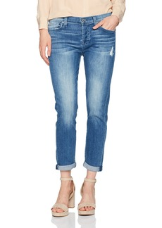 7 For All Mankind Women's Josefina Feminine Boyfriend Jean with Distress