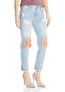 7 For All Mankind Women's Josefina Jean with Open Holes and Clean Back Pocket
