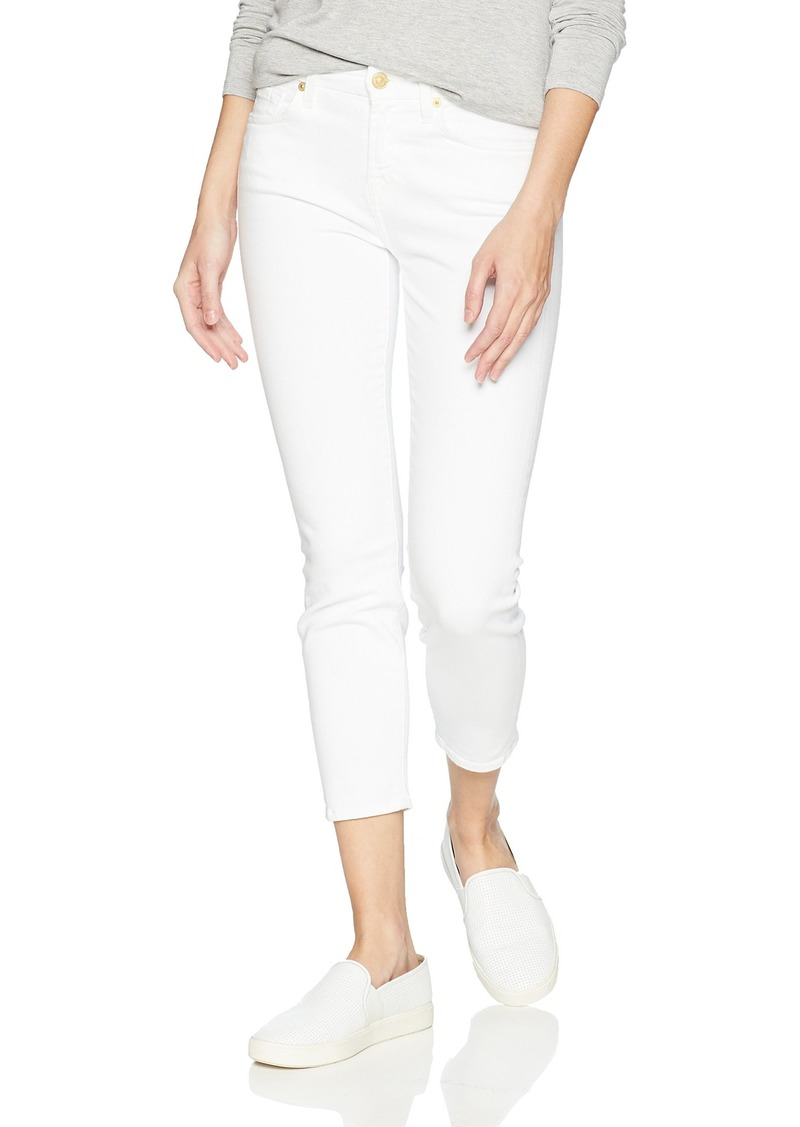 7 For All Mankind Women's Kimmie Crop Jean White Timeless