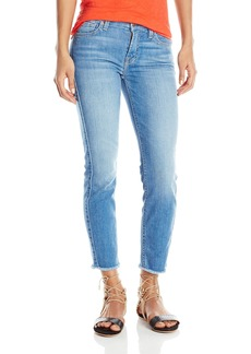 7 For All Mankind Women's Kimmie Crop with Raw Hem Jean in