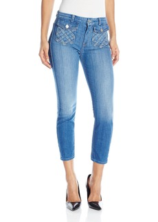 7 For All Mankind Women's Lattice Pocket Ankle Skinny Jean  24
