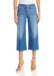 7 For All Mankind Women's Lattice Pocket Culotte Jean in