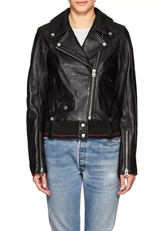 7 For All Mankind Women's Leather Moto Jacket