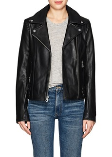 7 For All Mankind Women's Leather Slim Jacket