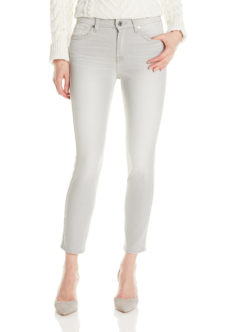 7 For All Mankind Women's Skinny Grey Jean Ankle Pant Crop Spring