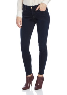7 For All Mankind Women's Midrise Skinny Jean with Tonal Squiggle
