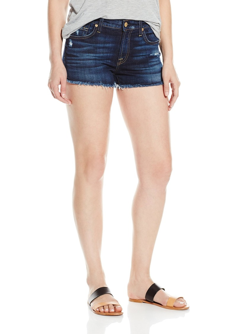 7 For All Mankind Women's Mini Pencil Skirt with Released Hem and Distress in