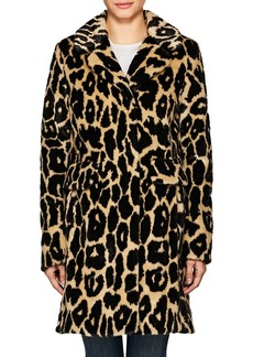 7 For All Mankind Women's Ocelot-Print Faux-Fur Coat