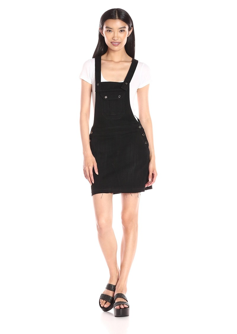 7 For All Mankind Women's Overall Dress in Black Sands Broken Twill 2