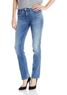 7 For All Mankind Women's Petite Short Inseam Straight Jean
