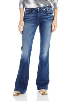 7 For All Mankind Women's Petite Size The Tailorless Dojo Trouser Jean (Short Inseam)  27x32