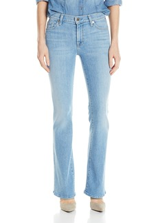 7 For All Mankind Women's Petite Tailor Less Boot Cut Jean in