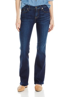 7 For All Mankind Women's Petite Tailor Less Classic Boot Leg Jean  24x32