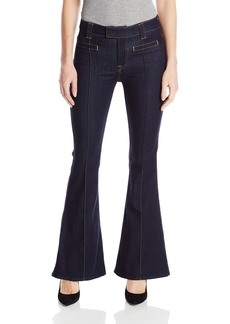 7 For All Mankind Women's Petite The Tailorless Pintuck Trouser- Short Inseam