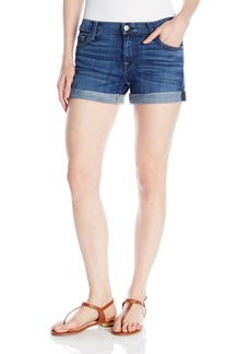 7 For All Mankind Women's Relaxed Mid Roll up Short Jean in Brillian