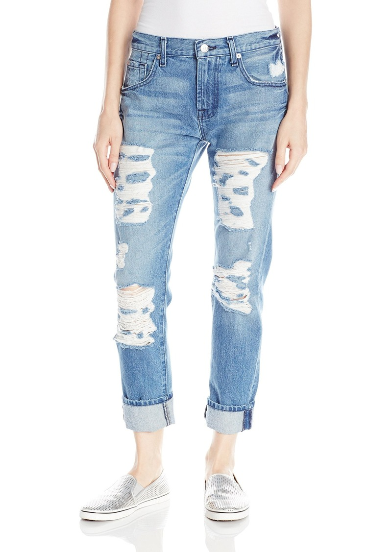 7 for all mankind 7 for all mankind women 39 s relaxed skinny with shredding jean denim shop it. Black Bedroom Furniture Sets. Home Design Ideas