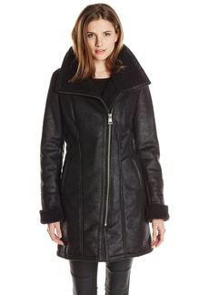 7 For All Mankind Women's Faux-Shearling Coat