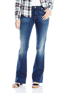 7 For All Mankind Women's Short Inseam a Pocket Flared Jean in