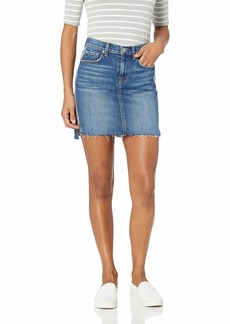 7 For All Mankind Women's Short Skirt with Reverse Step Side Panel