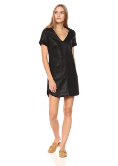 7 For All Mankind Women's Short Sleeve Popover Dress  S