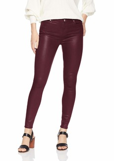 7 For All Mankind Women's Skinny Coated Sheen Jean Ankle Pant