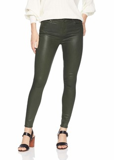 7 For All Mankind Women's Skinny Coated Sheen Jean Ankle Pant Moss Green