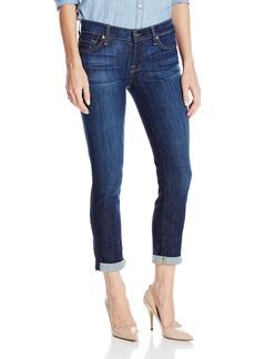 7 For All Mankind Women's Skinny Crop Roll Jean in