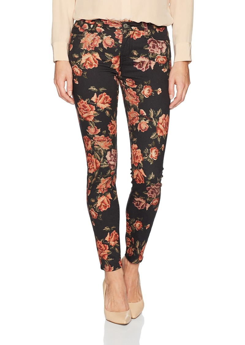 7 For All Mankind Women's Skinny Floral Printed Jean Ankle Pant