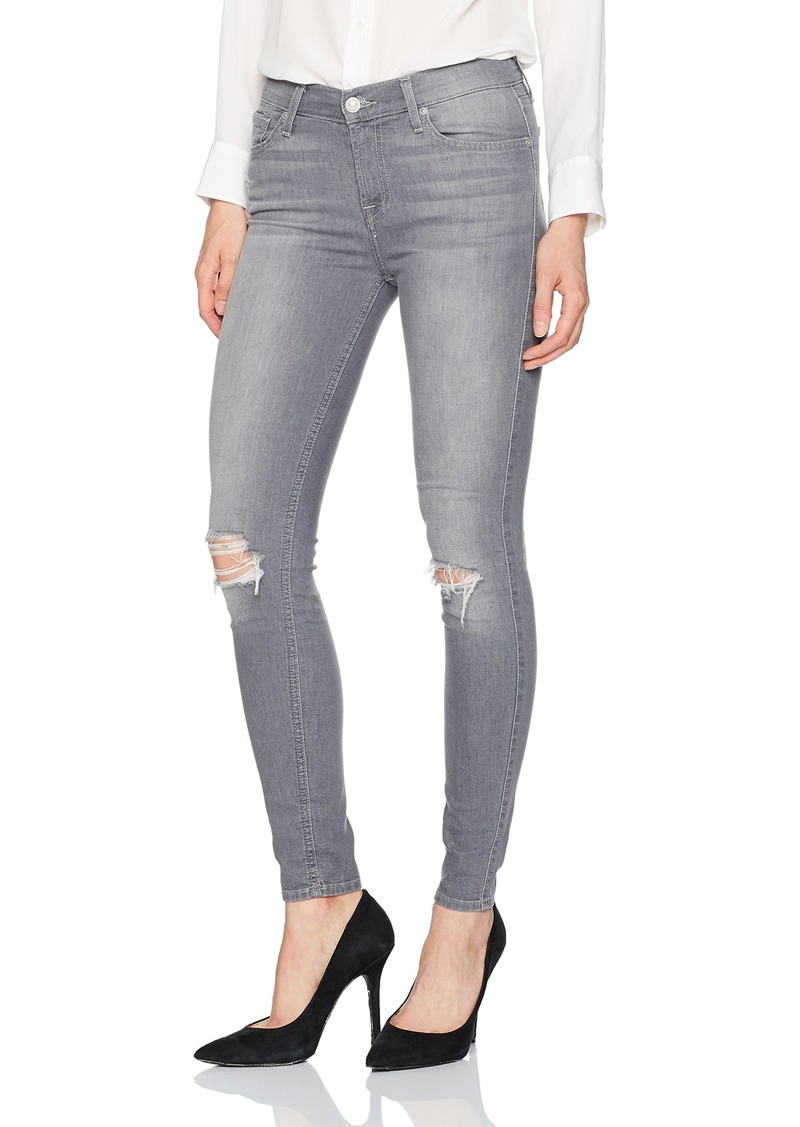 7 For All Mankind Women's Skinny Grey Jean Ankle Pant Gwenevere Skies 2