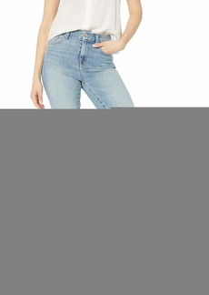 7 For All Mankind Women's Skinny High Waist Light Wash Jean Ankle Pant Sanded