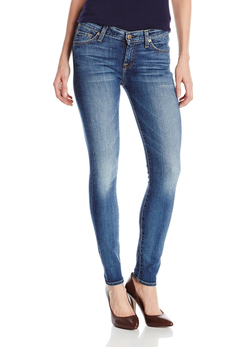 7 for all mankind 7 for all mankind women 39 s skinny jean in denim shop it to me. Black Bedroom Furniture Sets. Home Design Ideas