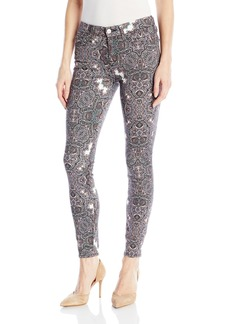 7 For All Mankind Women's Skinny Printed Jean Ankle Pant